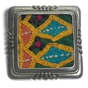 Chico's Pendant Embroidered Fabric Very Cool Boho